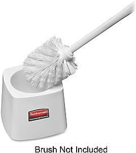 Rubbermaid 631100 Toilet Bowl Brush Holder, Square, 5-Inch, White