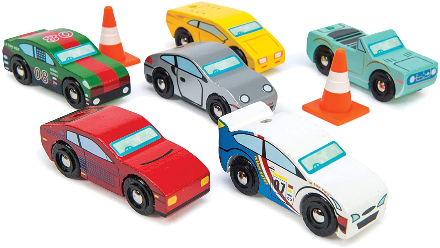 Le Toy Van Motors, Planes & Garages, Montecarlo Sports Cars Premium Wooden Toys for Kids Ages 3 Years & Up