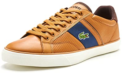 48aedb89b Lacoste Fairlead 118 1 Cam Trainers In Light Brown   Navy 735CAM0038 LR3   UK 7