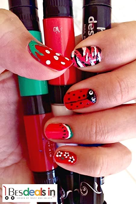 Buy best deals new 2 in 1 brush cum pen hot designs nail art best deals new 2 in 1 brush cum pen hot designs nail art polish pens prinsesfo Image collections