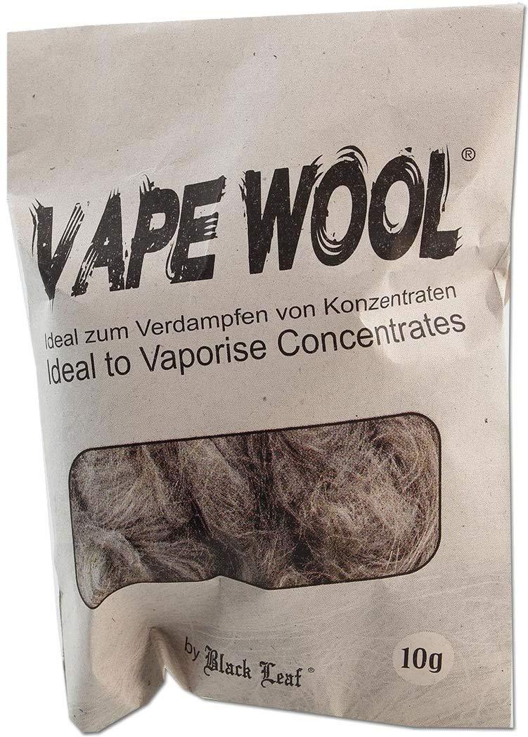 Black Leaf Vape Wool 10g Beutel degummierte Hanffasern Fight-Button