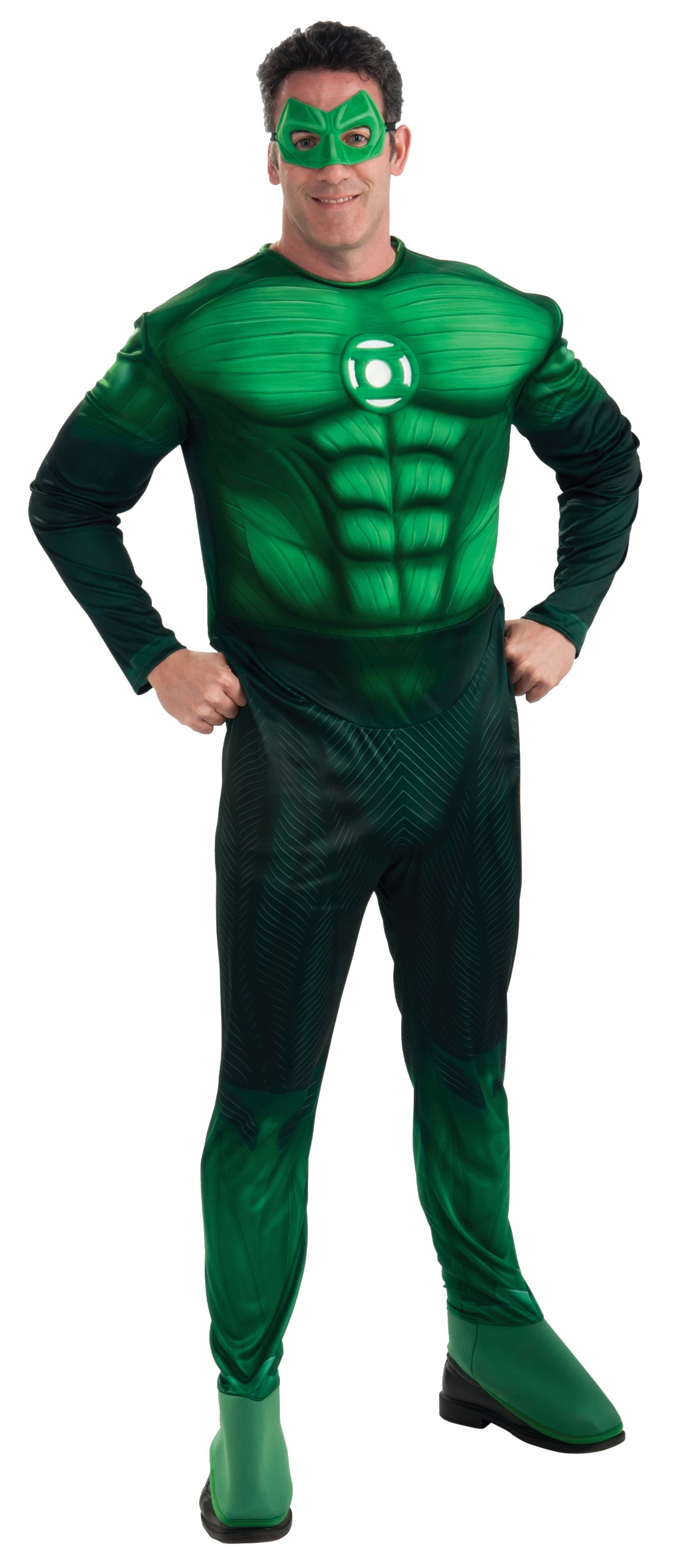 Green Lantern Deluxe Hal Jordan Costume With Muscle Chest, Green, X-Large