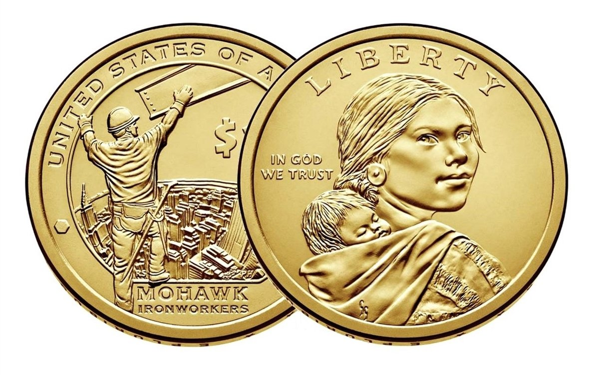 Uncirculated 2015 P D Sacagawea Native American Unc Mohawk Ironworkers 2 Coin Set
