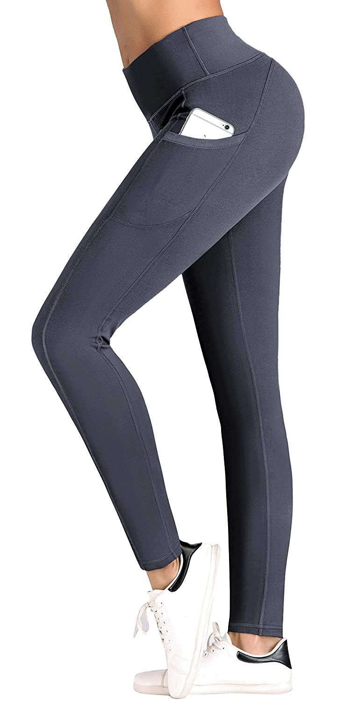 IUGA Altura de la Cintura Yoga Pantalones Bolsillo Interno y Salida diseño, Control de Abdomen