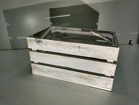 Caja DE Madera Blanco Vintage Tipo Fruta: Amazon.es: Hogar