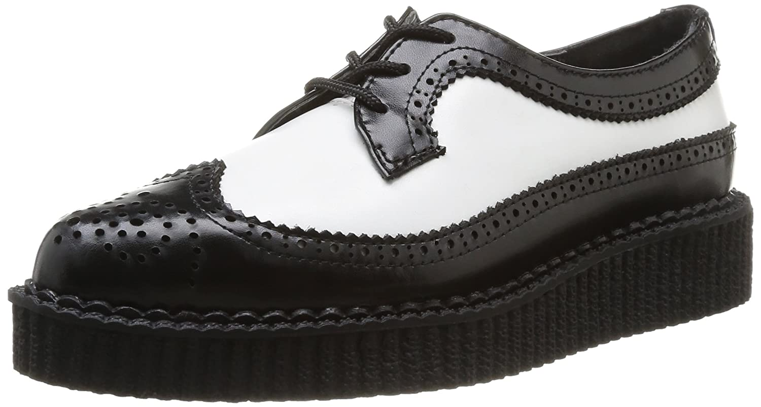 Amazon Com T U K Shoes A8643 Unisex Adult Creepers Black