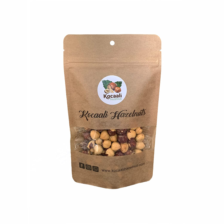 Kocaali Hazelnut   Roasted & SALTED Hazelnuts, 250 g, 0.55 lbs, Filberts, Delicious, Organic, Non-GMO, Nuts, Dry, Diet Snacks.