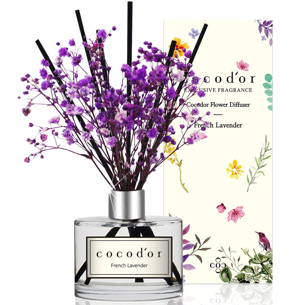 Cocod'or Preserved Real Flower Diffuser/French Lavender/6.7oz/Diffuser Oil & Sticks Set/Fragrance for Home Office Aromatherapy and Gifts by Cocod'or (Image #2)