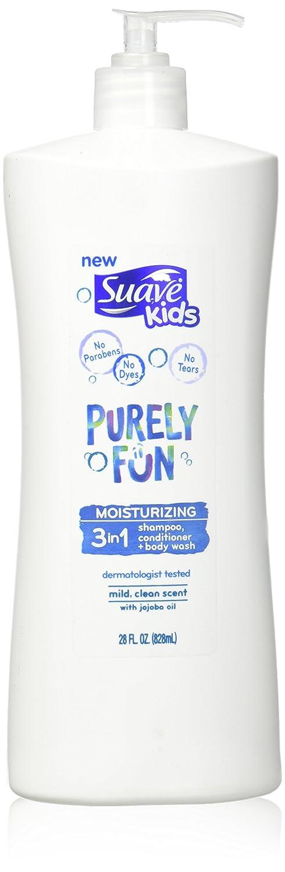 Suave Kids 3 In 1 Shampoo + Conditioner+ Body Wash Purely Fun, 28 Ounce Unilever