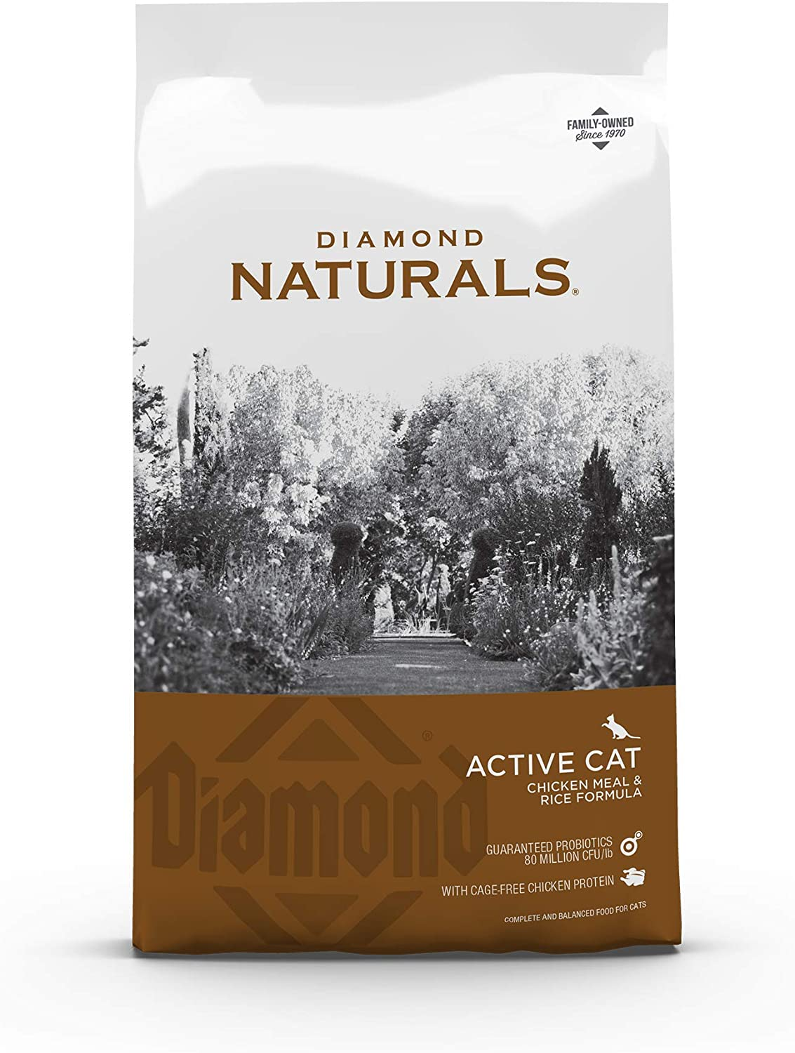 Diamond Naturals Active Cat Adult Dry Cat Food Chicken Protein Formula from Cage-Free Chicken with Superfoods, Probiotics, Antioxidants and Essential Nutrients 18lb