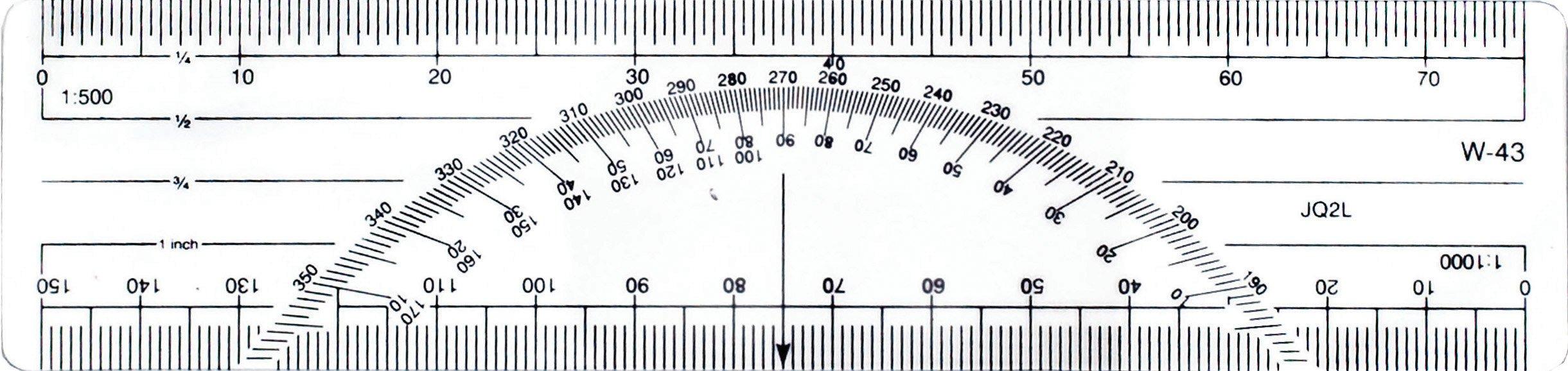 Westcott 6-Inch Metric Protractor Ruler (W-43 BP)