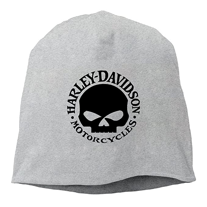 b46d2b257ff08 Harley Davidson Skull Logo Cool Beanie Hat Cap Winter Hat  Amazon.ca   Clothing   Accessories