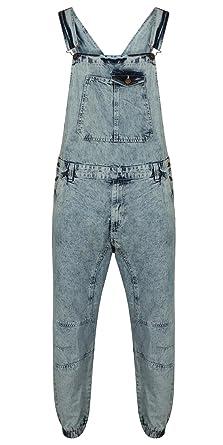 Wash Mens Denim Mid New Acid Designer Dungarees Blue Dungaree Jeans 1JTc3lKF