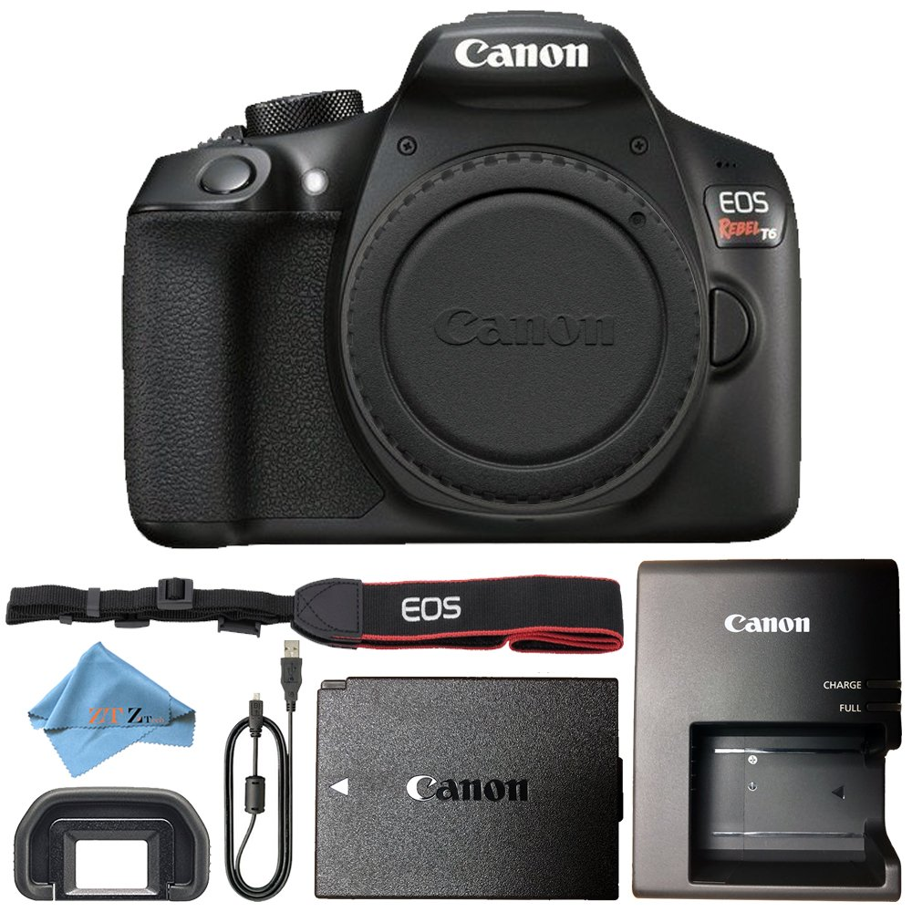 Canon EOS Rebel T6 18MP Digital SLR Camera Retail Packaging Bundle (Body)