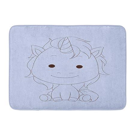 Kinhevao Alfombra de baño Cumpleaños Básico Unicornio Lindo ...