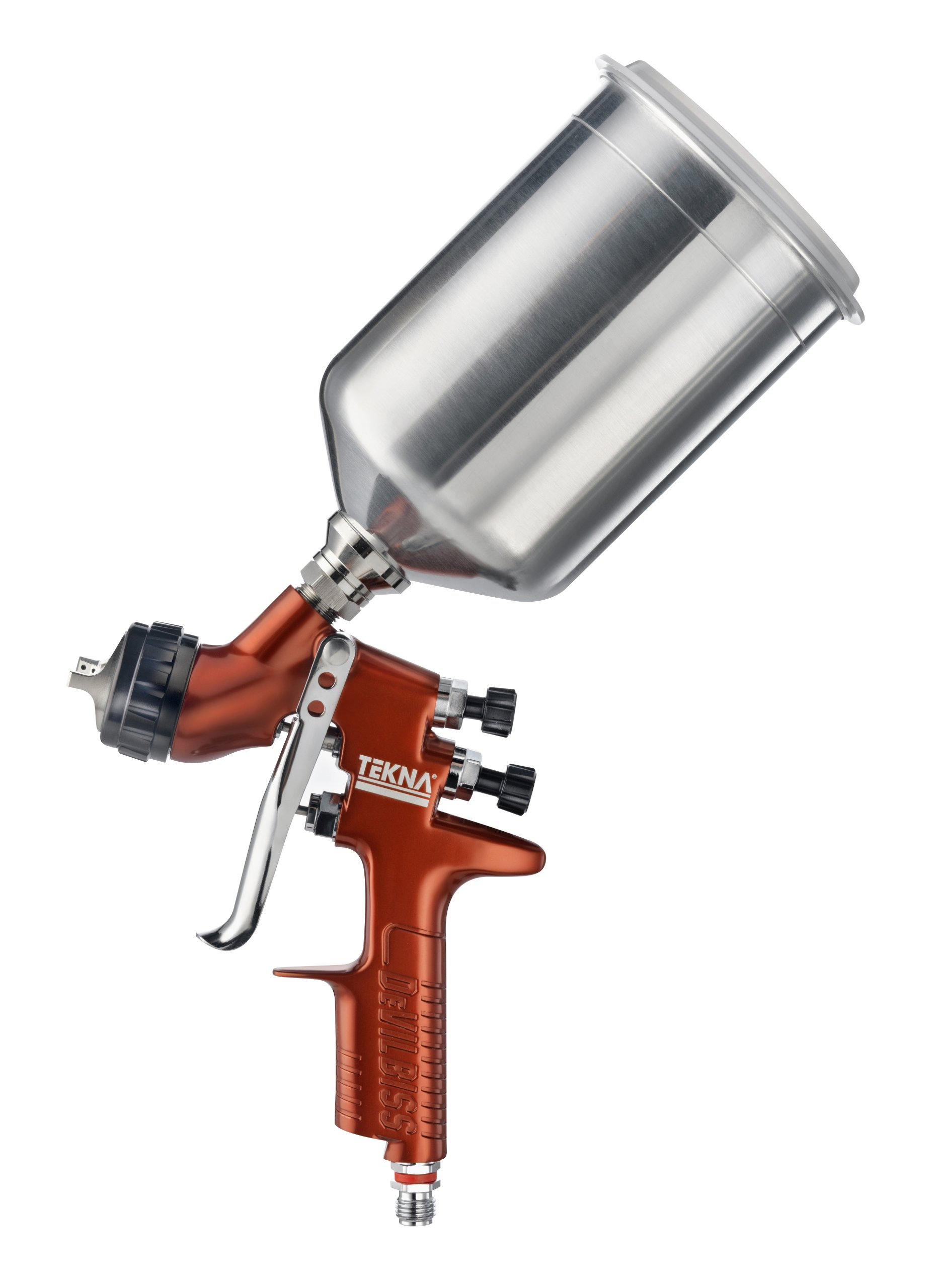 TEKNA 703676 Copper 1.2mm/1.3mm Fluid Tip High Efficiency Spray Gun with 900cc Aluminum Cup and 7E7 Air Cap by Tekna