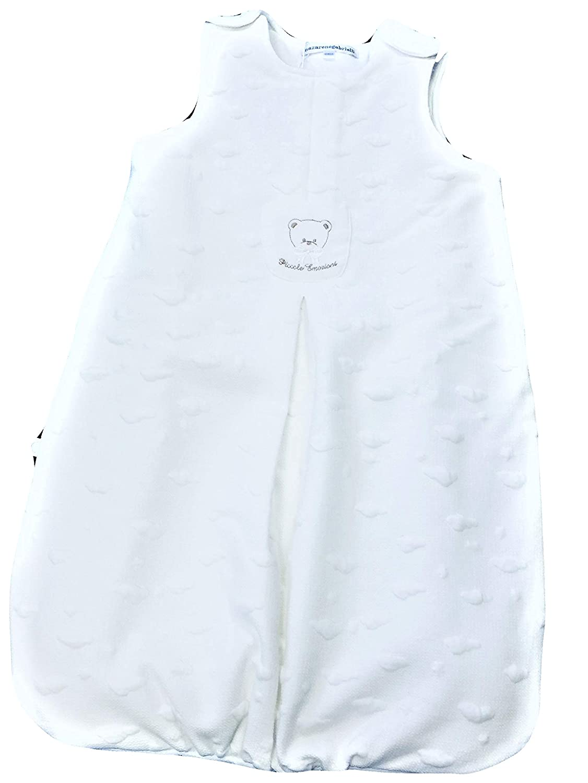 Nazareno Gabrielli Sleeping Bag - Sacco Nanna Neonato NEONATA Imbottito con Zip Laterale E COMODE Bretelle. Disponibile nei Colori Panna, Rosa e Azzurro, in Elegante Scatola con Manico