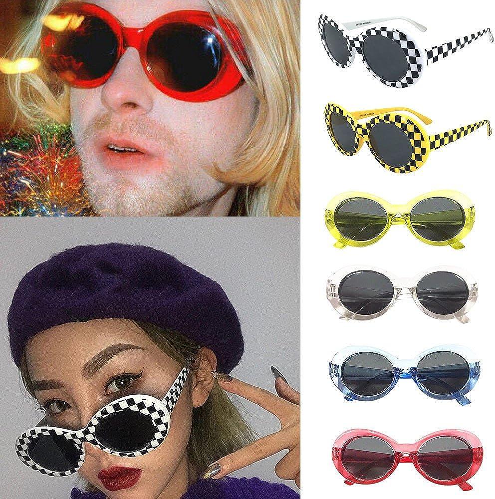 Harpily Moda Occhiali da Sole Unisex Tonalit/à Ovali Vintage Retro Eyewear Occhiali da Sole Cantante Rap Maschere Clout Accessori per Feste Fotografia Festival Musicale