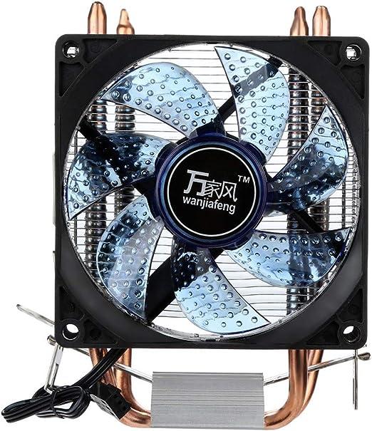 FiedFikt PC CPU Radiador de Aluminio disipador de Calor Ventilador ...