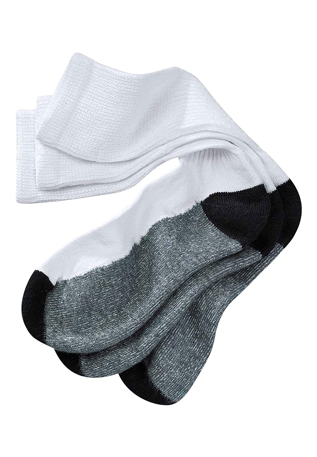 Kingsize Men's Big & Tall 3-Pack Full Length Cushioned Crew Socks
