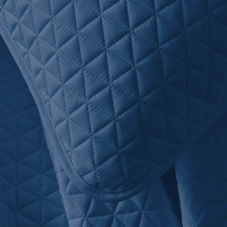 Turquoise VEEYOO Couvre lit Microfibre 172x249cm pour lit Single Toutes Les Saisons Jet/é de Lit Single Taille Boutis Dessus de Lit 2 pi/èces Super Doux et L/éger