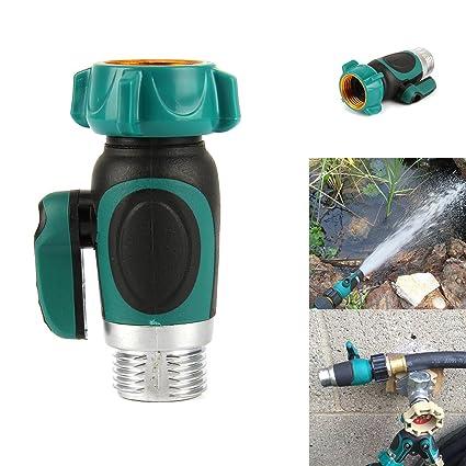 SOONHUA Garden Hose With Shut Off Adapter, Garden Hose Quick Connect  Outside Spigot Extender/