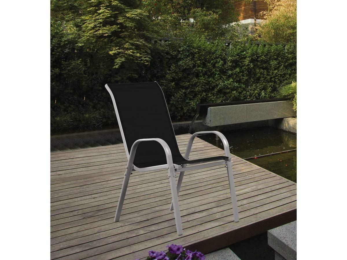 Juego de 4 sillas jardín Textileno Cordoba - Phoenix - Negro