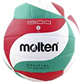 Molten V5M1500 - pallone da pallavolo, colore bianco/verde / rosso, taglia 5