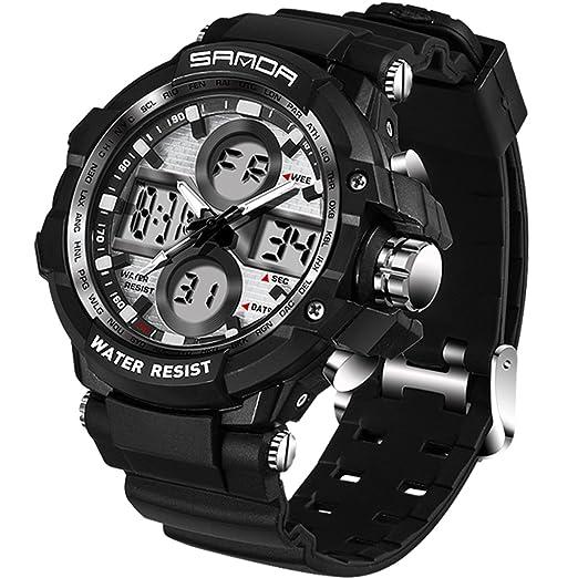 Reloj deportivo militar táctico para hombre con cronómetro, esfera grande, digital, electrónico, reloj de pulsera: Amazon.es: Relojes