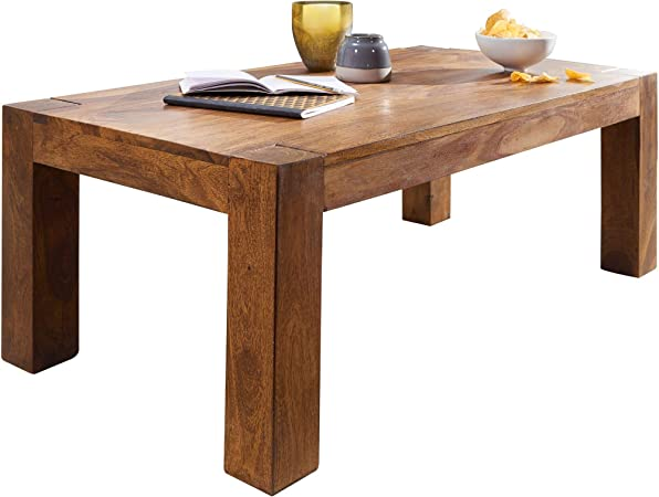 Finebuy Table Basse Bois Massif Sheesham Table De Salon 110 X 40 X