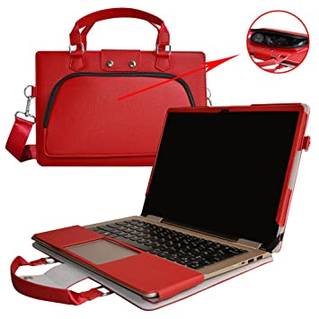 Yoga 720 15 Case,2 in 1 Accurately Designed Protective PU Leather Cover + Portable Carrying Bag for 15.6