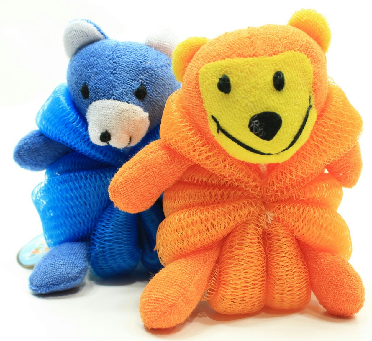 Amazon.com : Kids Mesh Sponge Bath and Shower Loofah Lion and Bear ...