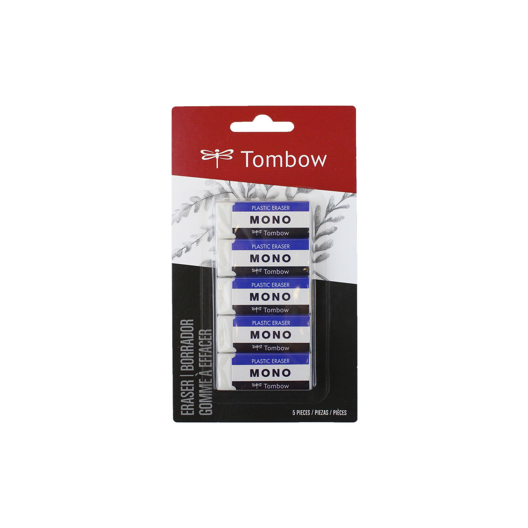 Tombow 57321 MONO Eraser, White, Small, 5-Pack. Cleanly...
