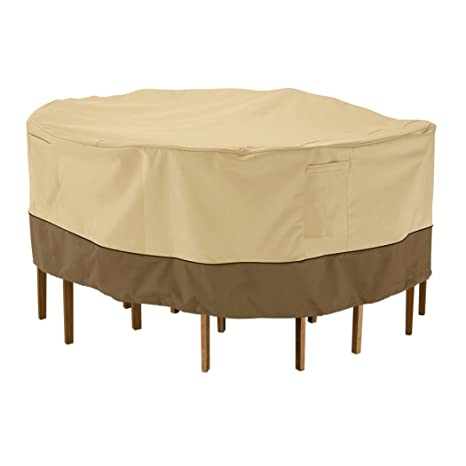 Elegant Classic Accessories Veranda Patio Table U0026 Chair Set Cover   Durable And  Water Resistant Outdoor Furniture