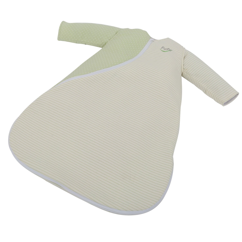 0-3 Months PurFlo Sleepsac Baby Sleeping Bag 100/% Cotton Jersey 2.5 Tog Mushroom Dots and Stripes