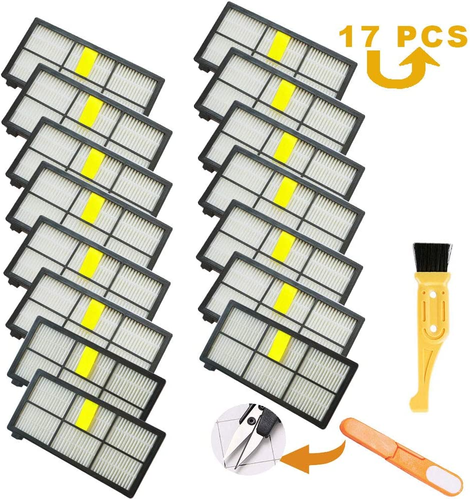Purzest 15PCS Roomba 960 Filters, Hepa Filters Replacement for Roomba 880 for iRobot Roomba 800 900 Series 805 860 880 890 980 960 870 871 Vacuum Replacement Parts
