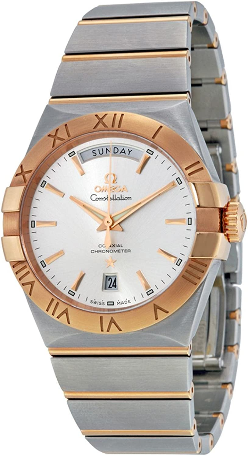 Omega Constellation Chronometer Silver Dial Rose-Gold and Steel Mens Watch 12320382202001