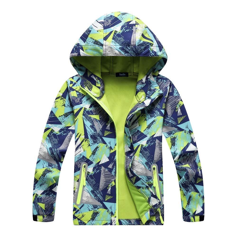 4042ee0b894d Mobycare Boys Hooded Waterproof Outdoor Jacket Light Windbreaker ...