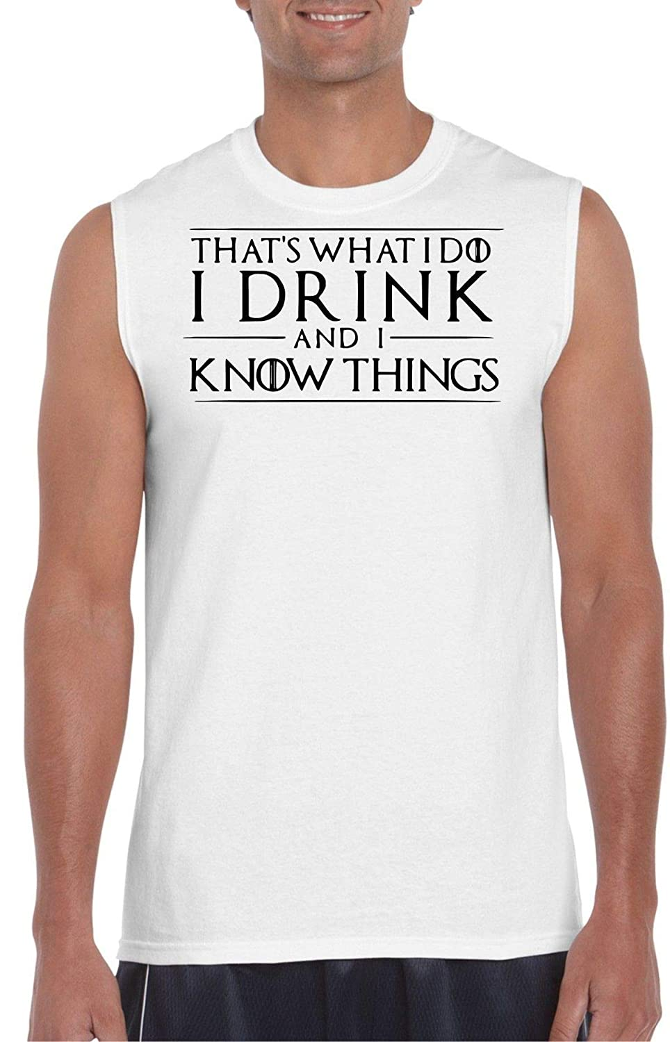 G.O.T I Drink and I Know Things White Muscle T