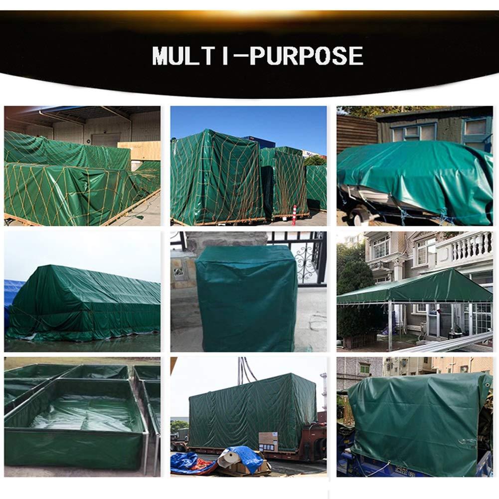 ファニチャーカバー Tarps日よけ布屋外グリーン適しキャンプピクニック断熱トラック防水シート付きボタンホールマルチサイズカスタマイズ可能 (Color : Green, Size : 4x5m) B07SX1TL94 Green 4x5m