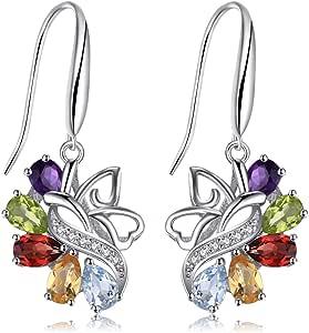 JewelryPalace Pendientes mariposa 4.8ct Amatista Citrino