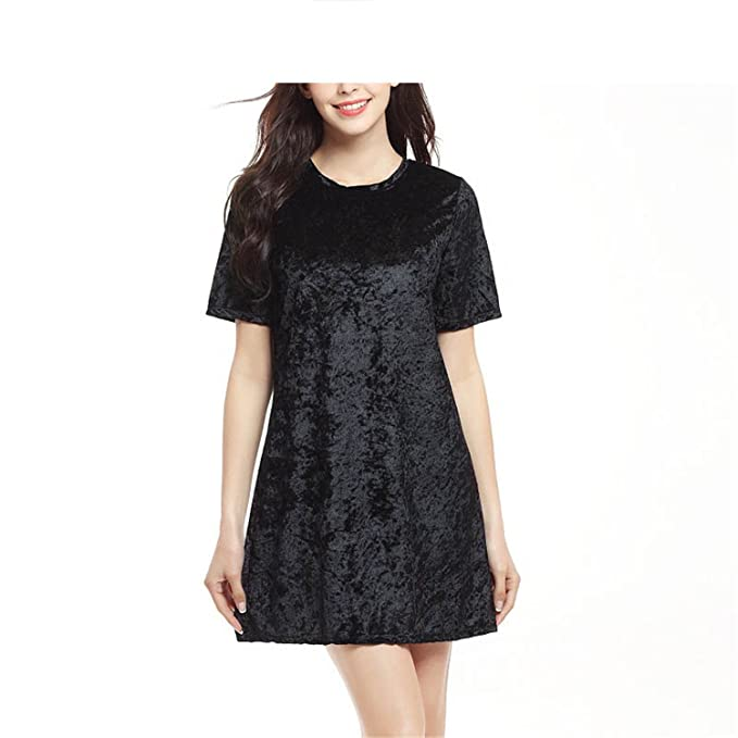 New Sexy Solid Velvet Women Dresses Short Sleeve Soild Female Bodycon Vestidos Vintage Dress Women O