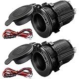 12V Cigarette Lighter Socket Car Marine Motorcycle ATV RV Lighter Socket Power Outlet Socket Receptacle Waterproof Plug…