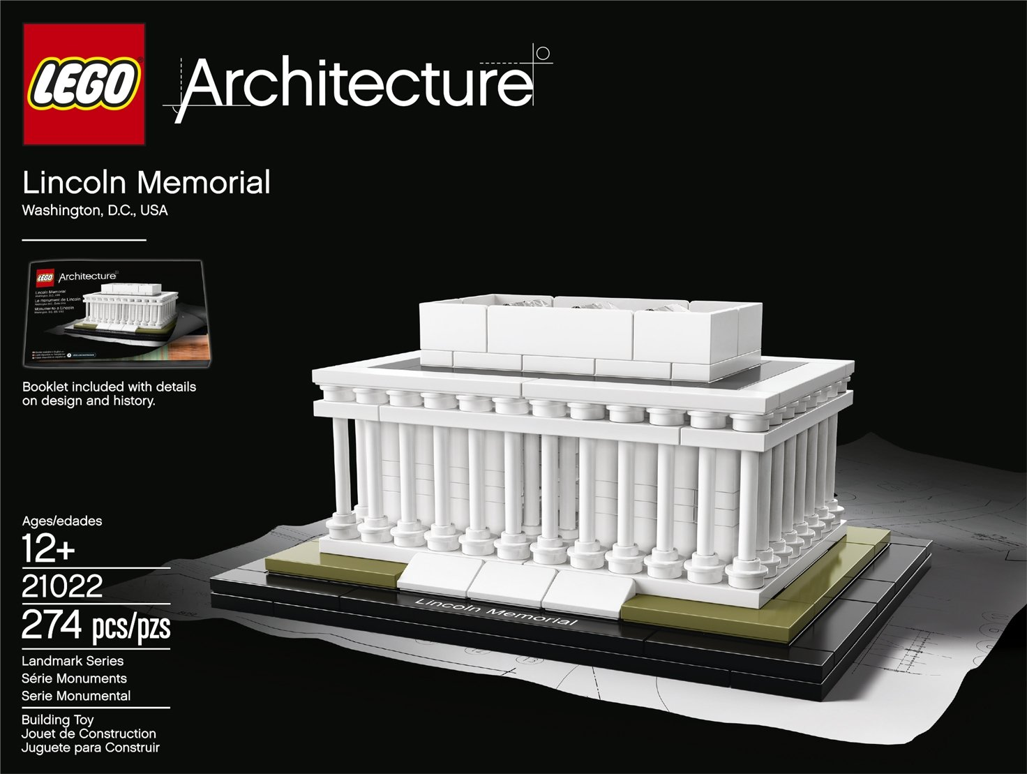 Amazon.com: LEGO Architecture 21022 Lincoln Memorial Model Kit: Toys & Games