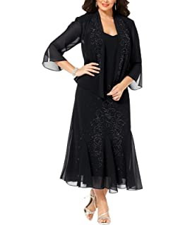 ec57ac665f R M Richards Women s 14W- 34W Plus Size Beaded Jacket Dress - Mother of The  Bride