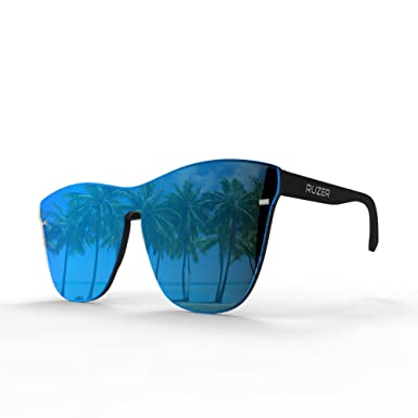 RUZER © Vedux oficial POLARIZADO UV400 Reflectante de gran tamaño Reflexionado ocasional Revo Moderno y fresco Unisex Hombre Mujer Gafas de sol ...