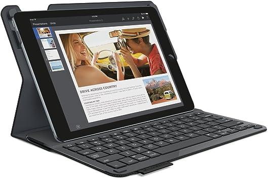 Logitech Type+ - Funda con teclado integrado para tablet Apple iPad Air 2, Qwerty español, color negro