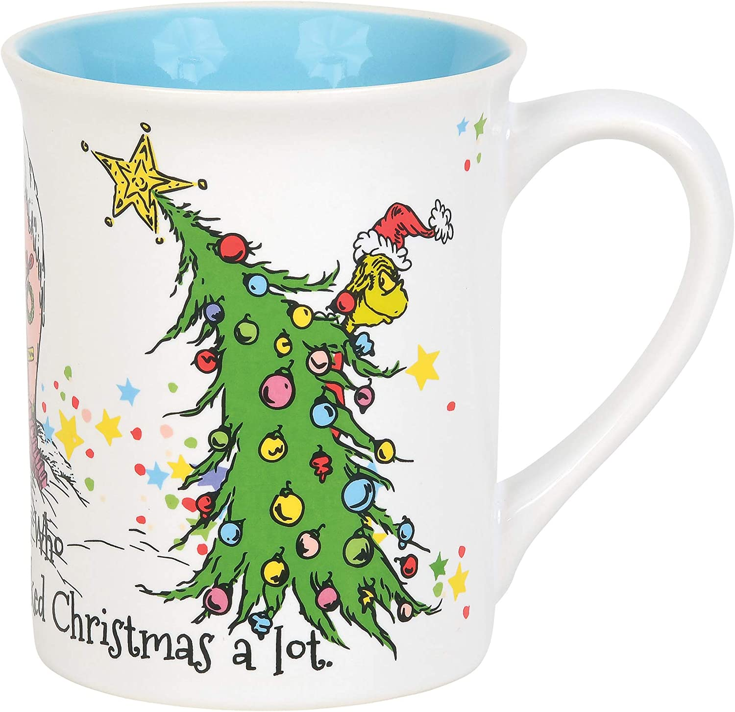 Department 56 The Grinch Cindy Lou Who Coffee Mug, 16 Ounce, Multicolor,6011014