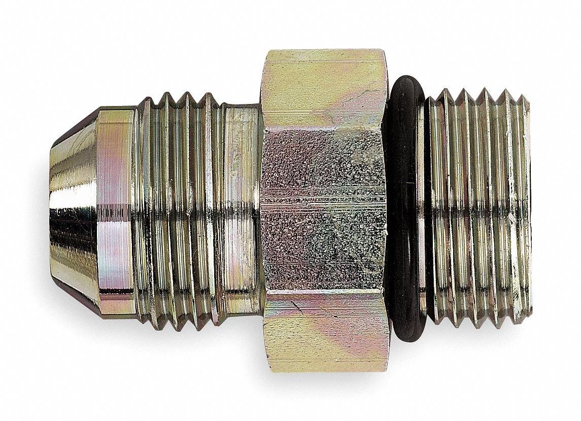 Eaton Aeroquip 202702-16-8S Steel Flared Tube Fitting Adapter 1//2 Male JIC x 1 O-Ring Boss Male 1//2 Male JIC x 1 O-Ring Boss Male