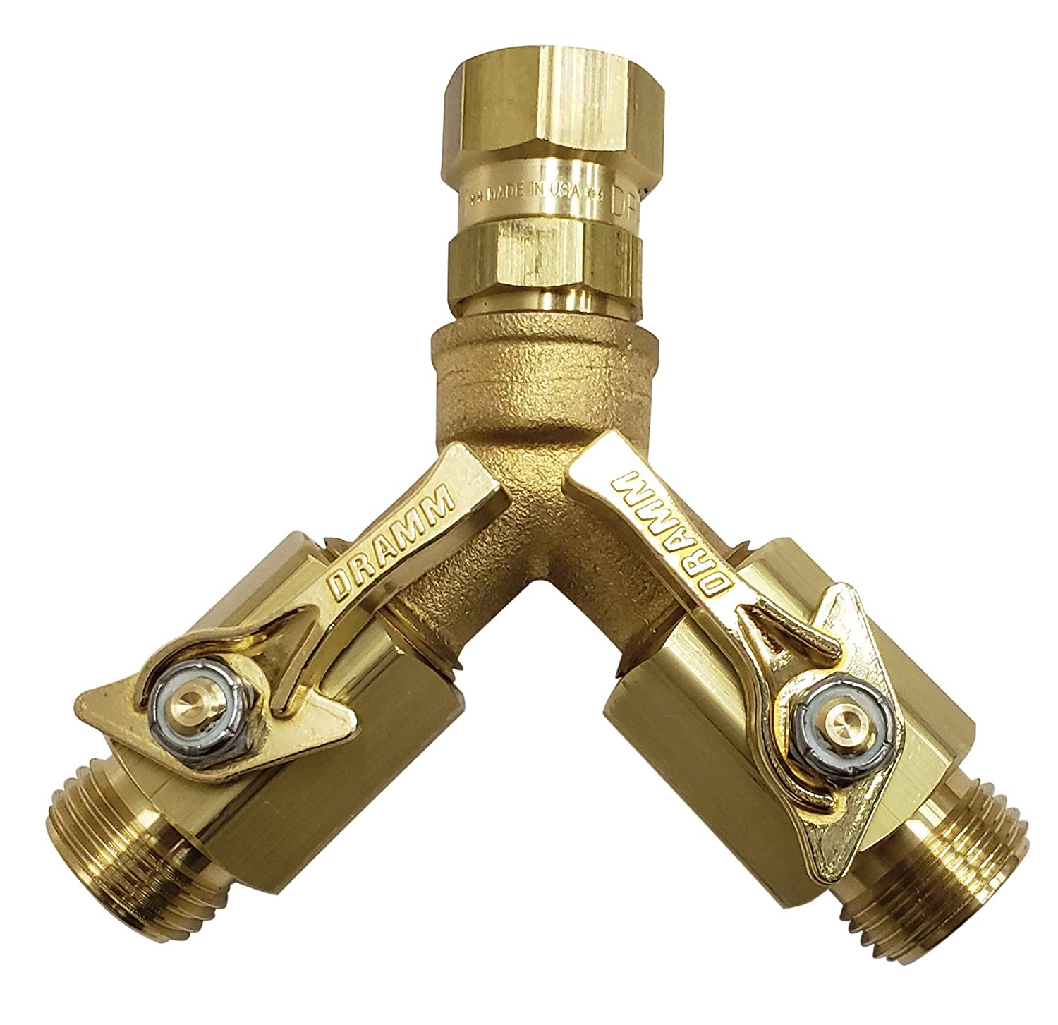 Dramm 22319 Brass Twin Shut Off Valve